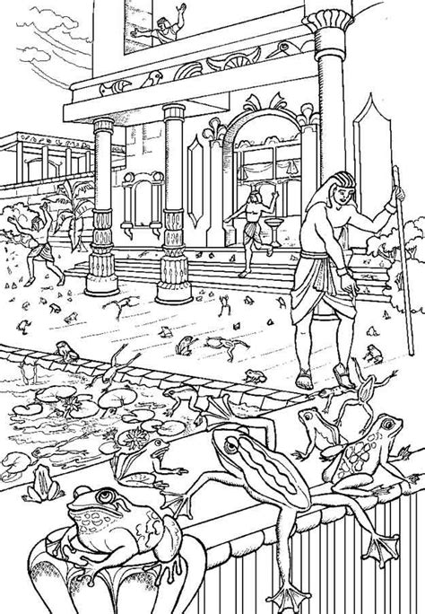 plague of frogs coloring page 82 best ideas about bible moses plagues passover on
