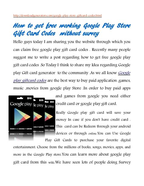 How To Get Free Gift Cards Play Store - how to get google play gift card codes android play store