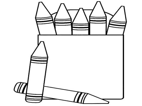 box of crayons page 8 coloring pages