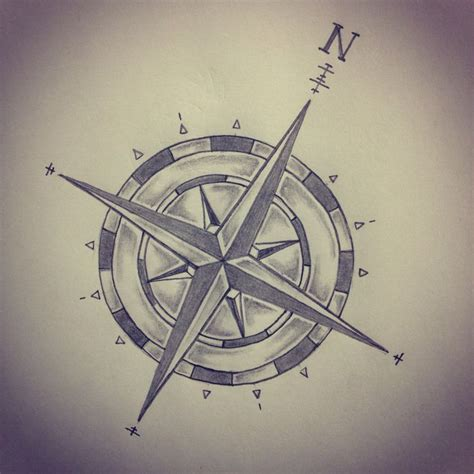 Compass Tattoo Art | compass tattoo sketch by ranz pinterest