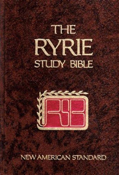 Ryrie Study Bible New American Standard Rent