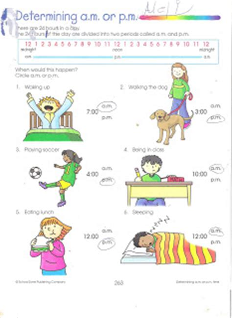 aump mtime cardo school completed am pm time worksheet