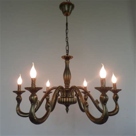 Aliexpress Com Buy Vintage Bronze Candle Chandelier Country Style Chandeliers