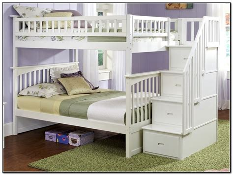 White Bunk Bed Stairs Bunk Bed With Stairs White Page Home Design