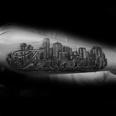 20 dallas skyline tattoo designs for men texas ink ideas