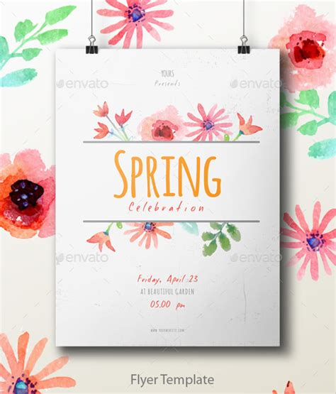 Spring Flyer Template 18 Download In Vector Eps Psd Celebration Flyer Template