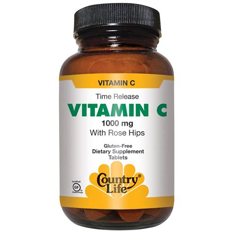 Vitamin C Tablet country vitamin c with hips 1000 mg 250