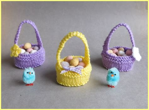 how to knit a easter marianna s lazy days sweet easter baskets