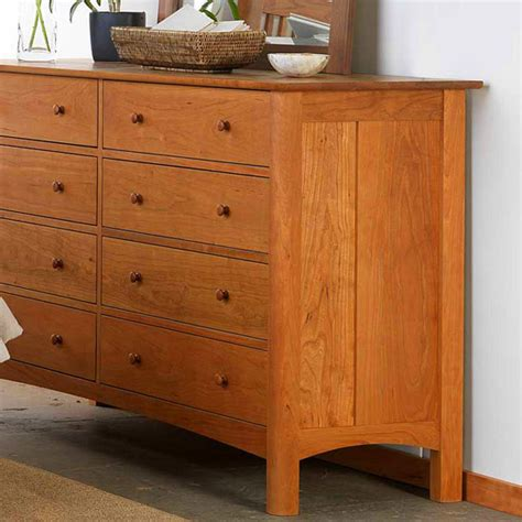 10 drawer dresser modern 10 drawer shaker dresser solid hardwood natural finish