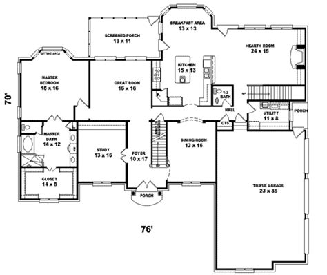 5 sq feet european style house plan 5 beds 4 baths 4500 sq ft plan