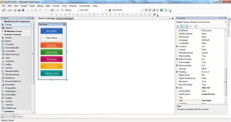 design form studio c tutorial creating custom button like office 2010 in