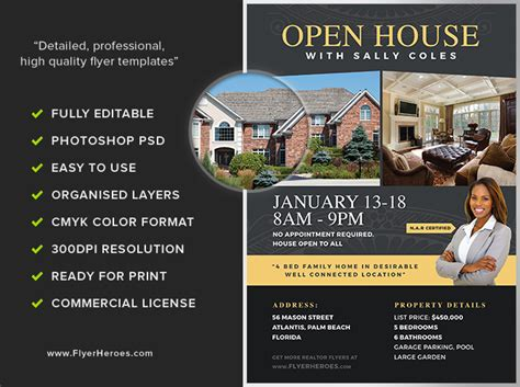 open house flyer open house flyer template 2 flyerheroes