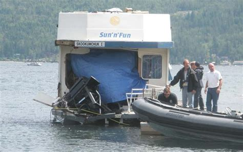 shuswap house boat court hears boat was travelling at killing speed before crash on shuswap lake