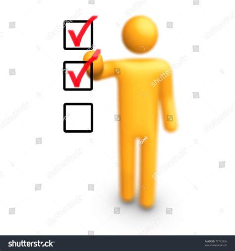 figure checklist stick figure checklist stock illustration 77713336