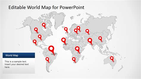 powerpoint template world editable worldmap for powerpoint slidemodel