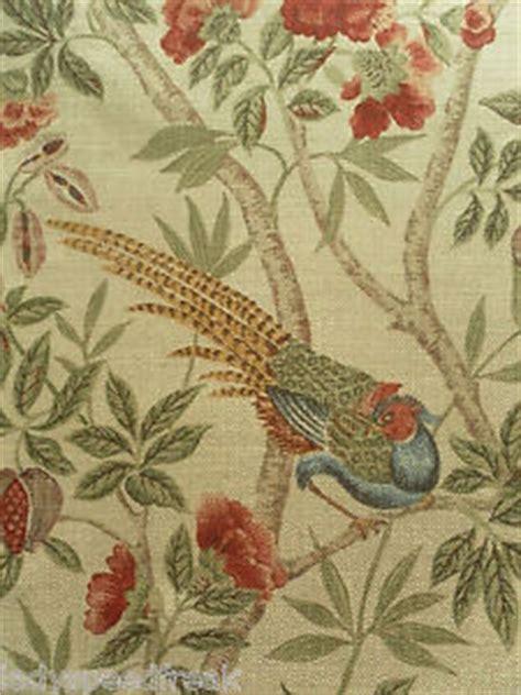 curtain fabric birds sanderson curtain fabric abbeville 1 15m russet sand birds