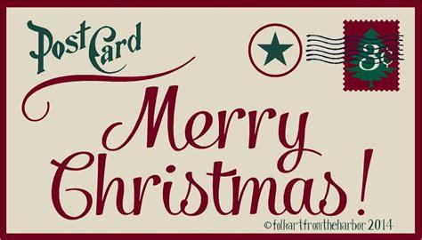 merry l post primitive stencil merry post card 10x18 007 mil