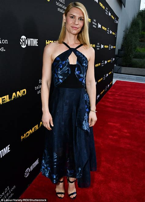 Style Of The Day Danes by Danes In Roland Mouret At Homeland La Screening