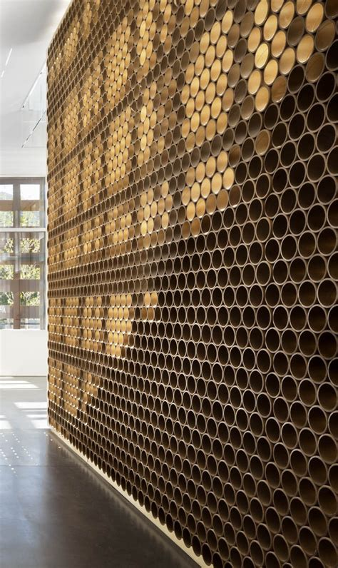 Pattern Architecture Pinterest | design detail a wall made of tubes contemporist