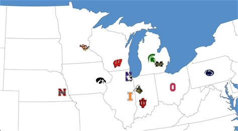 big ten map college football