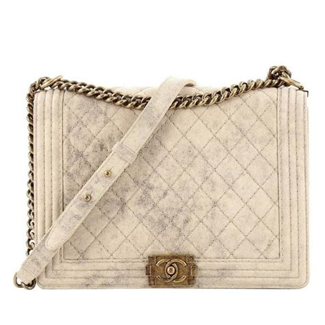 Chanel Boy Quilted by Chanel Boy Flap Bag Quilted Distressed Suede Large At 1stdibs