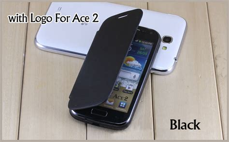 for samsung galaxy ace 2 i8160 original battery housing flip cover leather remove back