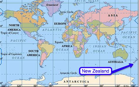 world map image new zealand with a view where is new zealand