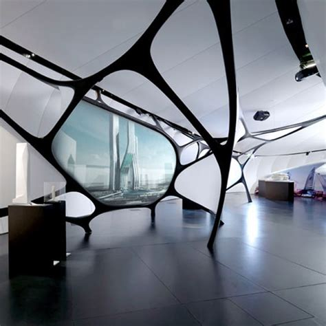 zaha hadid interior organic style a zaha hadid interior commercial spaces