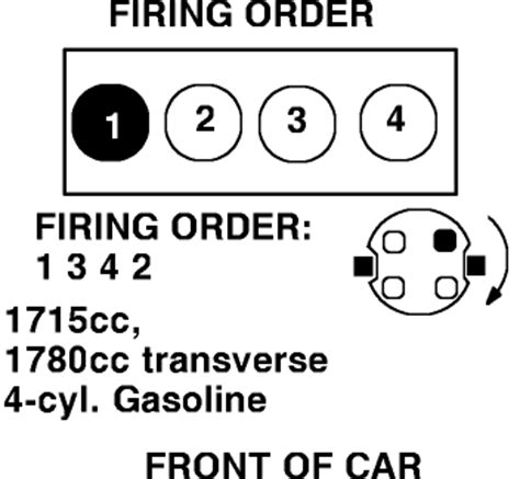1342 firing order diagram i need to the firing order for a 1988 vw golf gti
