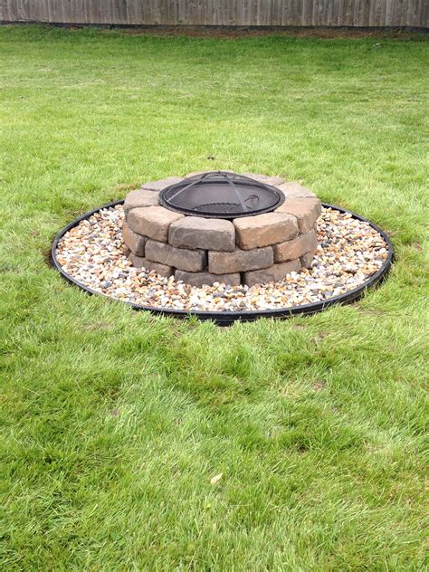 Fire Pit Diy Project Less Than 100 Excludes Fire Pit How To Build A Firepit With Pavers