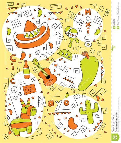 doodle 4 mexico cinco de mayo doodle stock images image 8232474
