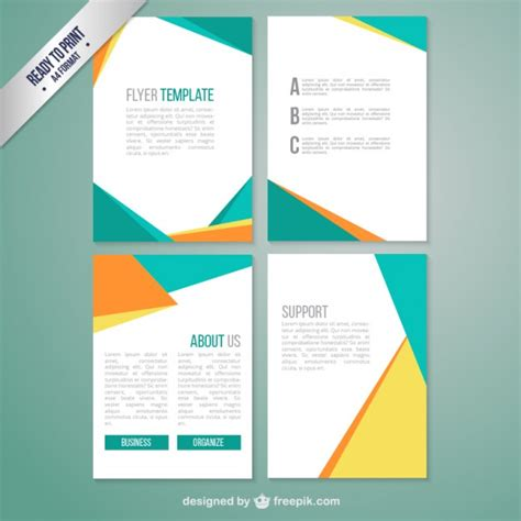 brochure template with abstract geometric vector free