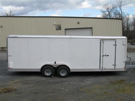 enclosed landscape trailers new cargo trailers stock utility car equipment motorcycle and cargo trailers