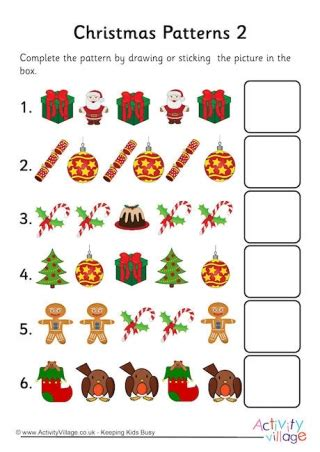 christmas pattern worksheets things i like about christmas worksheet
