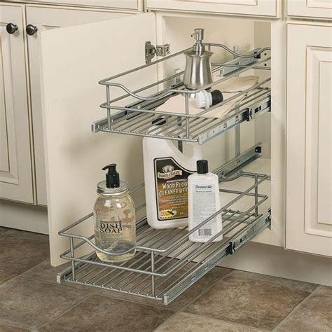 2 tier cabinet organizer rev a shelf 18 in h x 11 75 in w x 22 in d pull out two