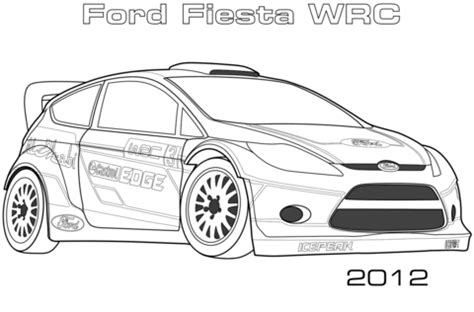 Coloriage 2012 Ford Fiesta Wrc Coloriages 224 Imprimer