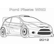 Desenho De 2012 Ford Fiesta WRC Para Colorir  Desenhos