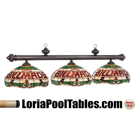 pool table light fixtures quot billiards quot 3 shade stained glass pool table light fixture