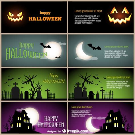 tarjeta animada para halloween halloween tarjetas plantillas de tarjetas para halloween descargar vectores