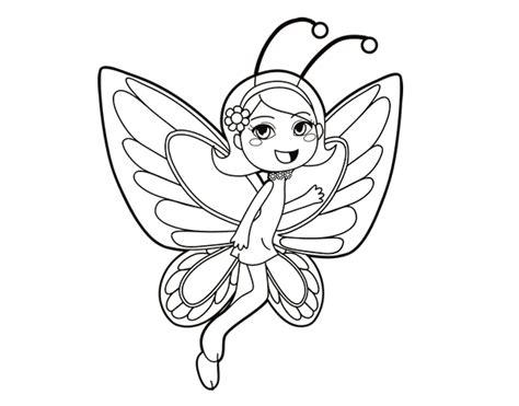imagenes de mariposas lindas para dibujar dibujo de hada mariposa contenta para colorear dibujos net
