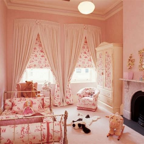 girls bed curtain pink nursery using classic winnie the pooh fabric