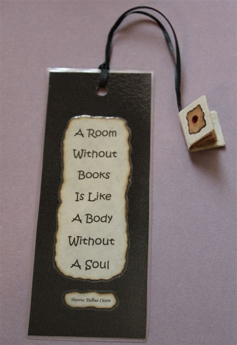 Handmade Bookmarks With Quotes - handmade bookmark featuring tiny book tassel with