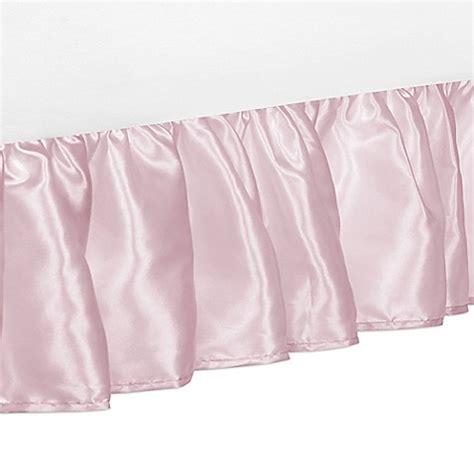 pink bed skirt sweet jojo designs alexa bed skirt in pink bed bath beyond