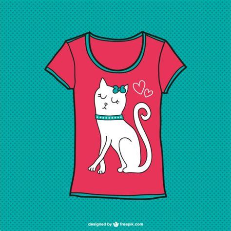cute pattern t shirts cute cat t shirt design vector free download