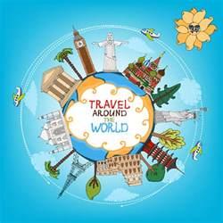 world travelling elements creative vector set 05 vector