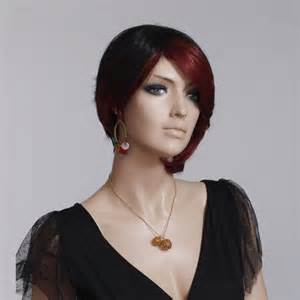 hairstyle wigs for black woman s wig black short straight red dyed bob hairstyle
