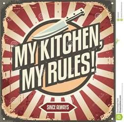 vintage kitchen sign stock vector image 53950020