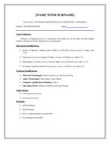 easy resume template free easy resume exles printable templates free