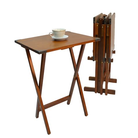 Tray Table Set by Barrel Studio Fieldwork 5 Tv Tray Table Set Reviews Wayfair