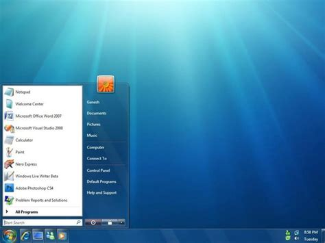 themes vista windows 7 theme for vista by ganesh india on deviantart